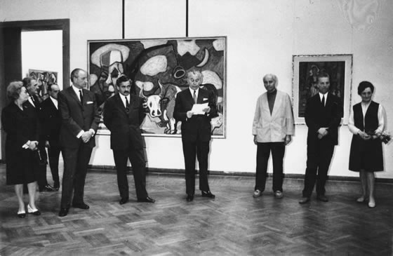 The Opening of an Exhibition in Budapest